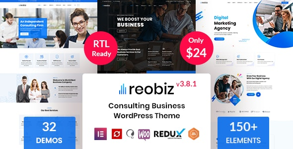 [nulled] Reobiz v3.8.1 - Consulting Business WordPress Theme