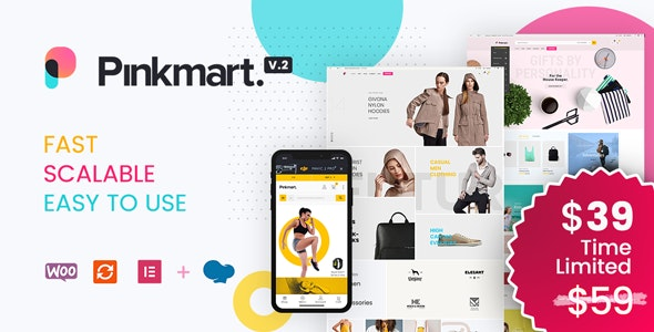 [nulled] Pinkmart v2.9.6 - AJAX theme for WooCommerce