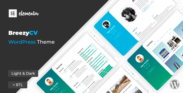 [nulled] BreezyCV v1.5.1 - CV Resume WordPress Theme