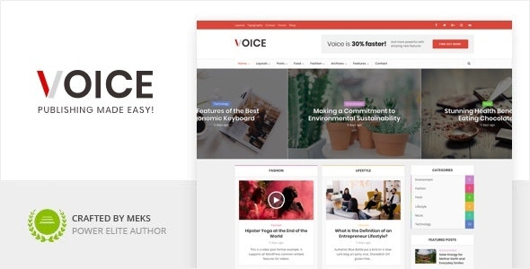 [nulled] Voice v2.9.8 - Clean News Magazine WordPress Theme