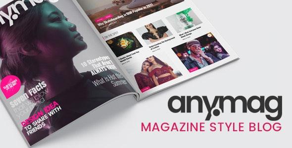 [nulled] Anymag v2.1.2 - Magazine Style WordPress Blog