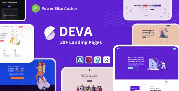 [nulled] Deva v1.0.5 - 30+ Landing Pages WordPress Theme