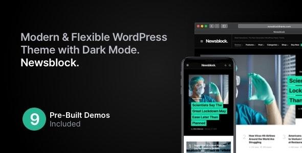 [nulled] Newsblock v1.1.4 - News & Magazine WordPress Theme with Dark Mode